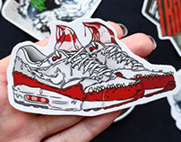 """""""Monster"""" Inspired by Nike Air Max."""