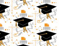Graphic Designer Graduation Invitation Pattern