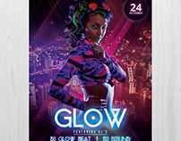 Glow and Neon - Free PSD Flyer Template