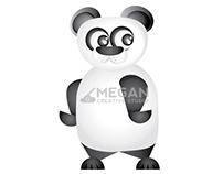 2D Panda Illustration