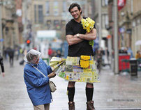 Yellow Pages and Marie Curie charity kilt
