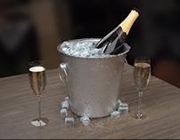 champagne 3D