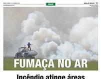 Páginas desenvolvidas para o Jornal de Roraima