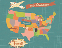 Fossil Tin - 50s American Travel