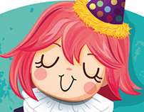 Clown girl Illustration