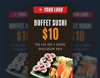 Sushi restaurant web banners
