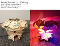 Folded Squares to LED lamp