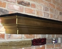 Black and Gold Mantle