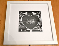 Love tree personalised papercut