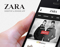 Zara / Desktop & iPhone App Redesign