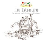 Iron Extractory: In game buildings and items