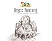 Biogas Reactory: In game buildings and items