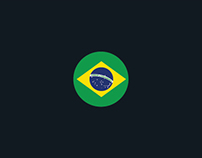Brasil World Cup 2014 - Football team flags