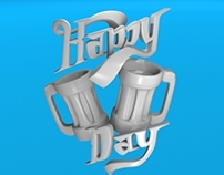 happy beer day 3d