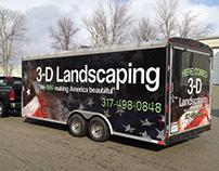 3D Landscaping Full Trailer Wrap