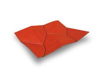 folded vessels, red + black