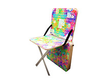 Modern Retro Grunge Collapsible Chair
