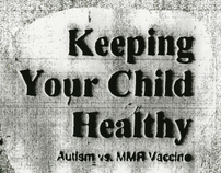 Zine discussing Autism v. MMR Vaccine