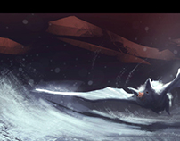 """White Bat"" - speed painting about 40MIN"