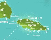 Pacific Island maps