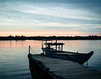 Fishing at Dawn in Vietnam