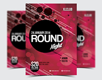 Round Night Party Flyer/Poster - 08