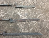 Railroad Spike Kitchen Knives