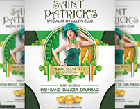 O'Malley's St. Patrick's Special Flyer