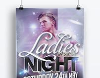 Ladies Cabaret Night Event Poster