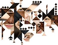 Tangram faces