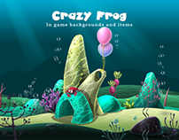 Crazy Frog: In game backgrounds and items