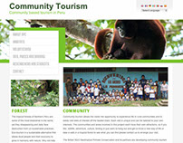 Website Design, 'Community Tourism in Peru'