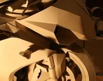 papercraft - cardboard motorcycle