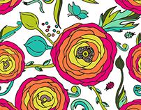 Ranunculus flowers design