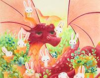 Dragon and bunnies