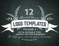 Hand Drawn Logos + Elements Vol. 2