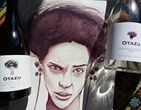 Ariadna. Pintura con vino Otazu.