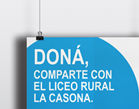 Poster for a donation campaign