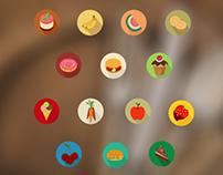 14 Free Tasty Flat Food Icons
