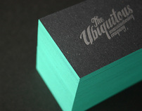 Edge Painted Letterpress Business Cards