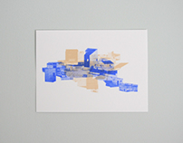 Blue Silkscreen Series