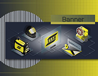 Banner for the company selling welding equipment