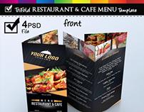 Trifold Restaurant & Cafe Menu Template