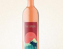 live simple. Wine Labels