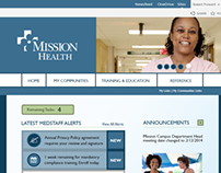 Mission Health Intranet UI Composition