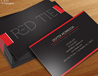 RED TIE - Free Business Card Template