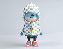 [ HIPHOP BOY ] Paper toy of Boogiehood