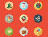 80 Christmas Icon Set