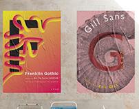 Specimen Posters / School Projects