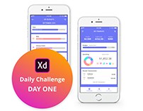 Adobe XD Challenge Day One - Personal Finance App